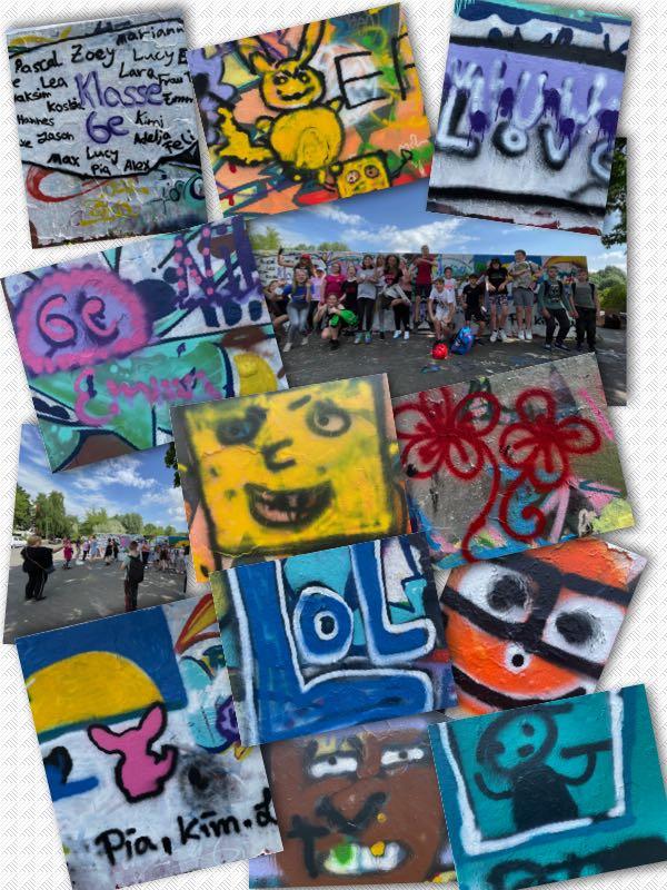 Die 6e im Graffiti-Rausch